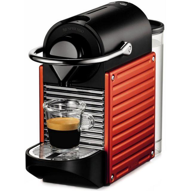 KRUPS Cafetière à capsules Nespresso - YY1202FD - Rouge électrique