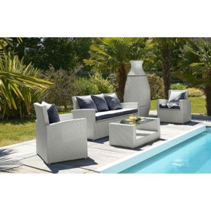 Dcb garden salon de jardin 4 places gris et totem 3 for Dcb garden salon de jardin