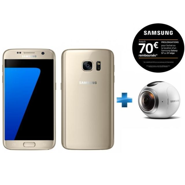 Samsung - Galaxy S7 Or + Camera Gear 360 pour Réalité Virtuelle