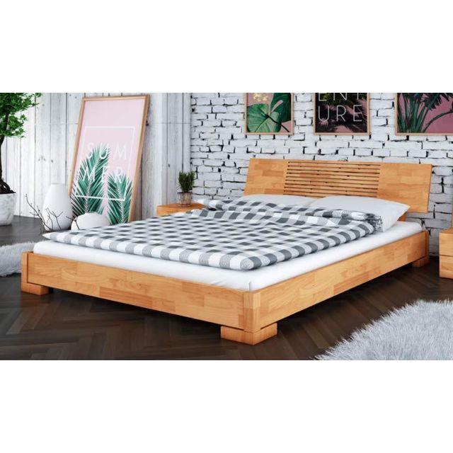 house and garden lit 160x200 style japonais en bois. Black Bedroom Furniture Sets. Home Design Ideas