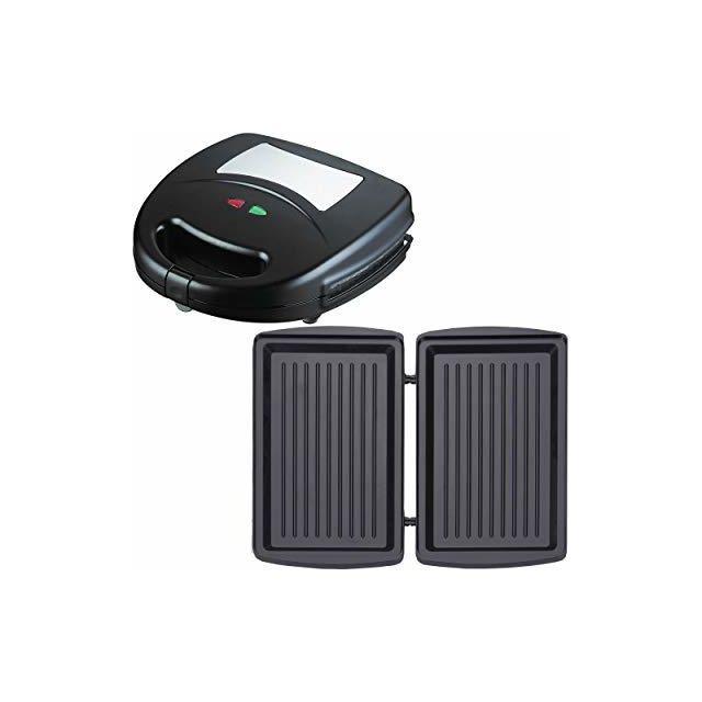 Syntrox Germany Gril de contact avec plaques de cuisson interchangeables Sm-1300W