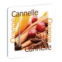 Millumine - Interrupteur Cuisine Décoré Orange Cannelle
