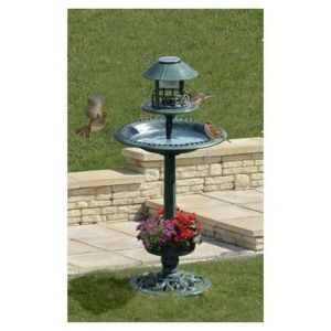 Ose - Vasque solaire de jardin pour oiseaux Noir - pas cher Achat ...