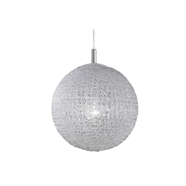 millumine grande suspension design boule blanche 40 torsade pas cher achat vente. Black Bedroom Furniture Sets. Home Design Ideas