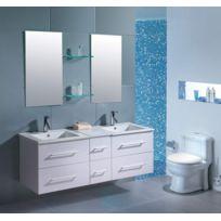 Design et Prix - Magnifique ensemble meuble salle de bain complet 'mars b' 2 vasques 2 miroirs
