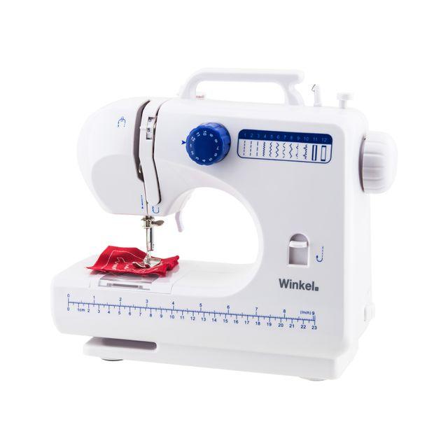 WINKEL Machine à coudre blanc 12 Idéale pour les couturiers en herbe et simple d'utilisation, développez vos talents en couture grâce à la SW45.