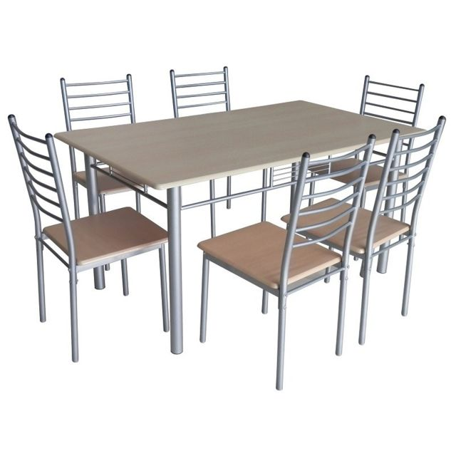 Price Factory Set 1 Table 6 Chaises Emma Ensemble
