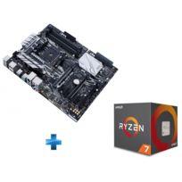 Carte mère AMD PRIME X370-PRO Ryzen - Socket AM4 + Processeur AMD Ryzen 7 1700 65W AM4 8/16 Core/Tread 3.7 Ghz avec ventilateur