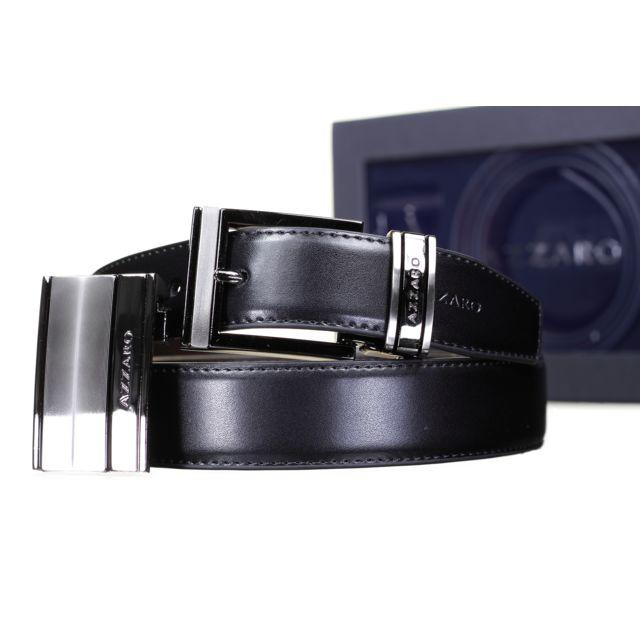 Azzaro - Coffret 2 Boucles 712 Reversible Noir Marron Taille unique ... cdd7a01bd68
