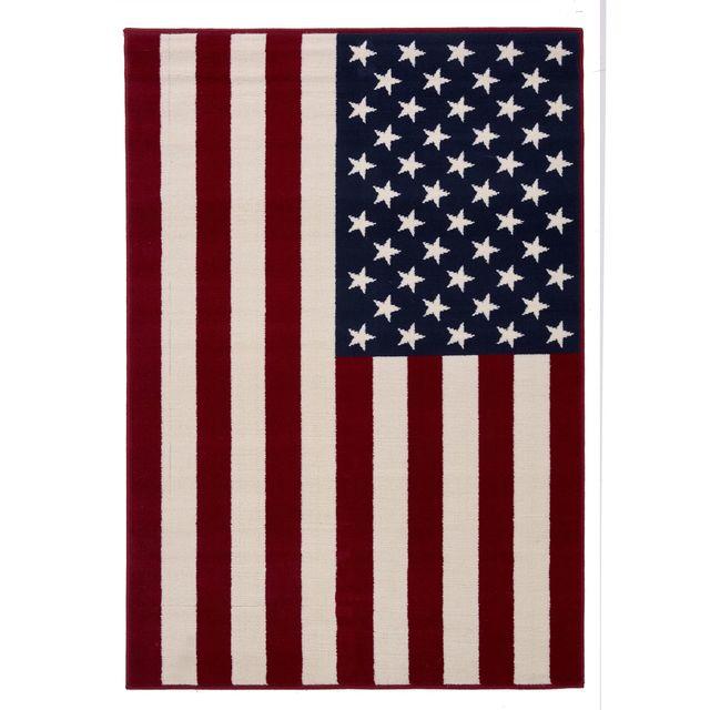 Alinéa Us Flag Tapis 120x170cm Pas Cher Achat Vente