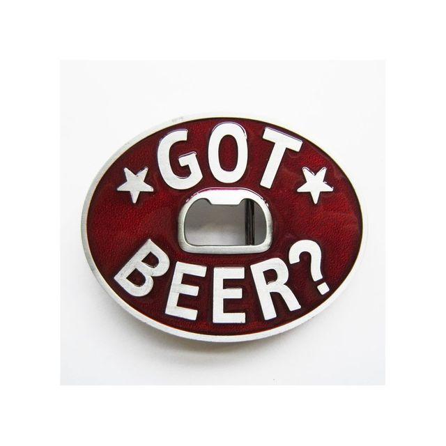 Universel Boucle de ceinture ouvre bouteille got beer ovale rouge