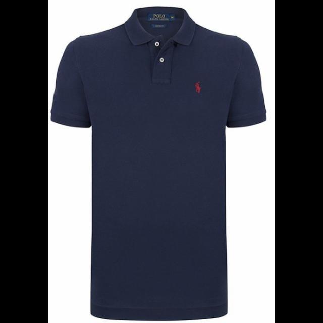 f5c28dcf484d9 Ralph Lauren - Polo Custom-fit Bleu Navy Poney Rouge - pas cher ...