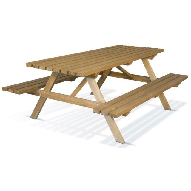 JARDIPOLYS Table de pique nique 200