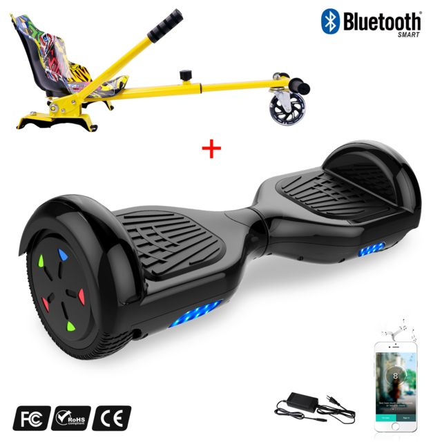 Coque de Protection Silicone Anti Choc Anti-d/érapant Housse pour 6.5  Hoverboard Scooter Auto Equilibre