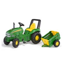 Rolly Toys - Tracteur RollyJ X Trac John Deere avec remorque
