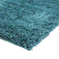 Mon Beau Tapis - Tapis Valencia Shaggy 133x190cm, bleu