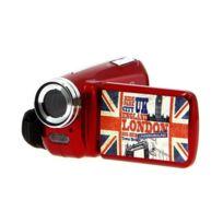 Akor - Caméra Numérique 3 Décors - Rouge - 5 Mp - Zoom Digital 4X Pour Enfant