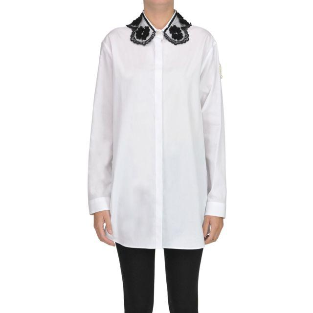 Moncler Femme Mcgltpc000006026I Blanc Coton Chemise