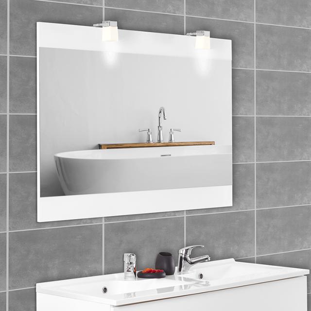Creazur Miroir avec appliques lumineuses Mirosa - 120 cm blanc