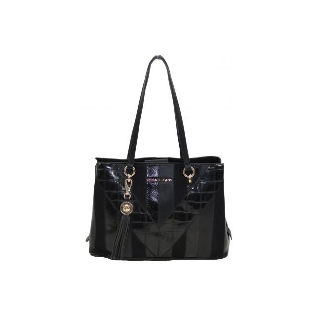 Achat E1vsbbp5 Pas Jeans Cher Sac Versace Shopping Noir Vente n0OP8wkX