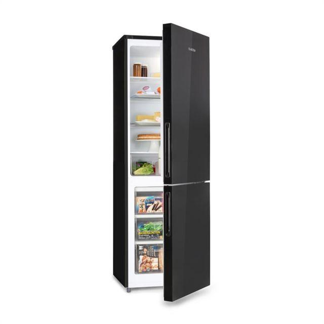 KLARSTEIN Luminance Frost Kühlschrank 300l A+ 4 Glasböden Crisper-Fach schwarz