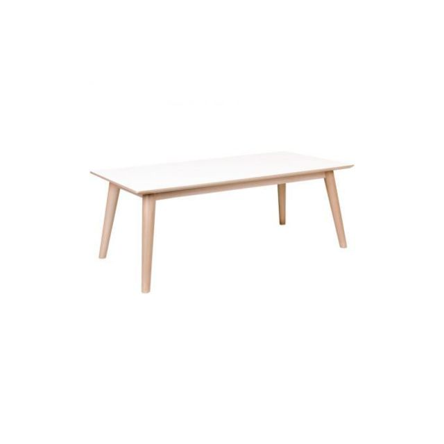 Declikdeco Table Basse Scandinave Blanche Lone