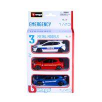 MARQUE GENERIQUE - Pack de 3 voitures de secours 1/43 - TY60697