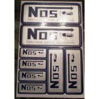 Universel - Planche de stickers Nos gris autocollant drag racing