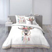 douceur d 39 interieur housse de couette 200x200 100 coton attrape r ves taies d 39 oreillers. Black Bedroom Furniture Sets. Home Design Ideas