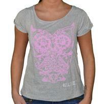Hollifield - T Shirt Manches Courtes - Femme - Fs109 - Gris