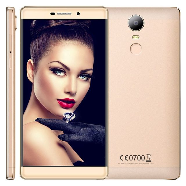 Yonis Smartphone 6 Pouces 4G Quad Core Android 6.0 Empreinte Digital Or 16Go