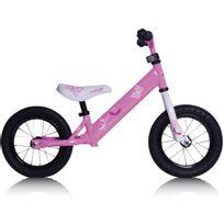 "Rebel Kidz - Vélo Enfant - Air - Draisienne - 12,5"" Schmetterling rose/blanc"