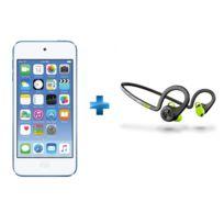 APPLE - iPod touch 32 Go Bleu + Ecouteurs sport bluetooth Noir - BackBeat Fit - PLAN-BACKBEAT-FIT