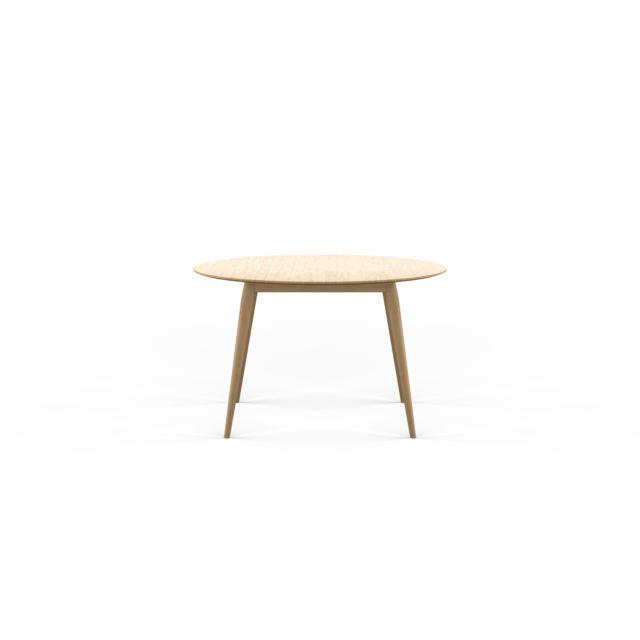 Bruunmunch Table de salle à manger Playdinner ronde, à rallonge - chêne blanc huilé