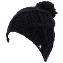Lhoste - Bonnet à pompon Mirabelle noir bonnet l Noir 64070