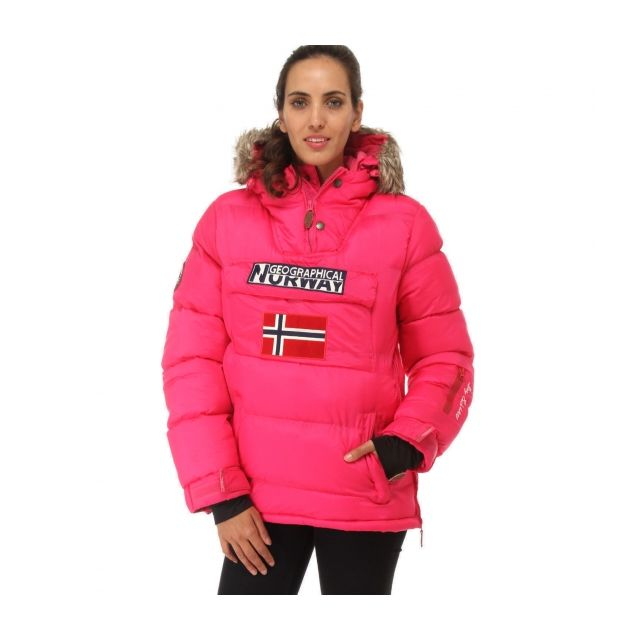 7c911b1c6d4 Geographical Norway - Parka Doudoune femme Bolide rose Géographical Norway