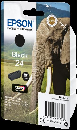 EPSON Cartouche Elephant - Encre Claria Photo HD Noir