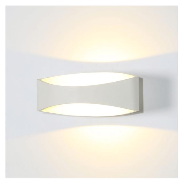 kosilum applique murale moderne led blanc alyson pas cher achat vente appliques. Black Bedroom Furniture Sets. Home Design Ideas