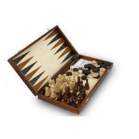 Albatros International - Set de jeux Echecs + Backgammon + dames Matador