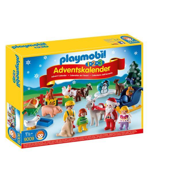 Calendrier De L Avent Playmobil Pas Cher.Calendrier De L Avent 1 2 3 Noel A La Ferme 9009