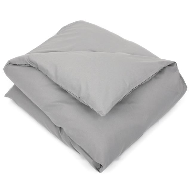 linnea housse de couette uni 200x200 cm 100 coton alto alu multicolore nc pas cher achat. Black Bedroom Furniture Sets. Home Design Ideas