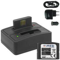 mtb more energy® - 2x Batterie + Double Chargeur USB/Auto/Secteur, Ba-300 pour Sennheiser Ri 410 IS 410 Ri 830 Set 830 Tv Ri 830-S, Ri 840 Set 840 Tv Ri 900, Rr 4200 v. liste