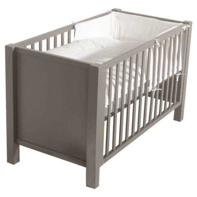 quax lit b b marie sofie provence taupe pas cher achat vente lit b b rueducommerce. Black Bedroom Furniture Sets. Home Design Ideas