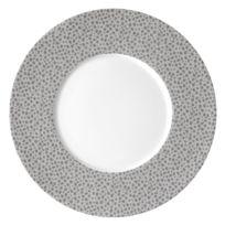 Medard De Noblat - Assiette à dessert 21 cm par 6 Baghera Platine