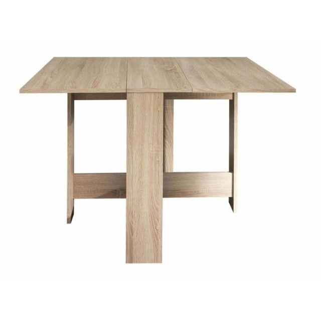 Marque Generique - Table à manger pliante en bois 3 positions Astucea - Chêne Marron - 0cm x 0cm x 0cm