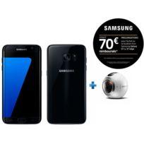 Samsung - Galaxy S7 Edge Noir + Camera Gear 360 pour Réalité Virtuelle