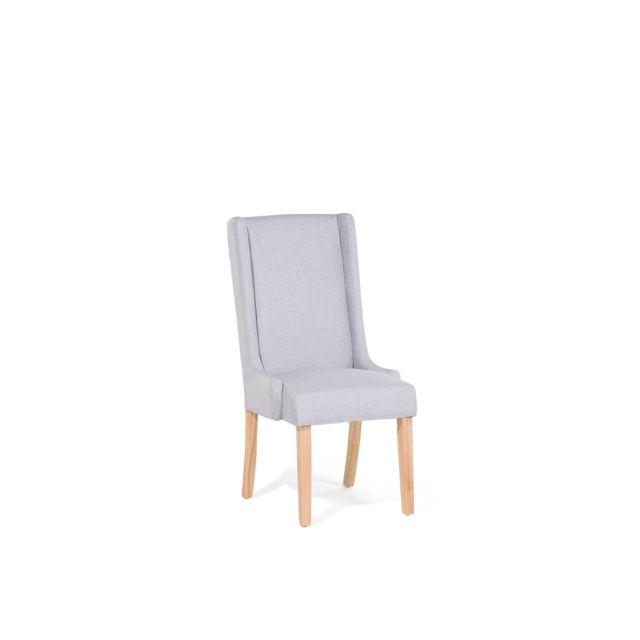 Chaise de salle à manger grise claire CHAMBERS