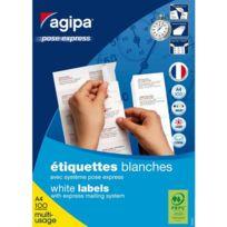 Agipa - Etiquettes adresses 70 x 37 mm 119015 - Boîte de 2400
