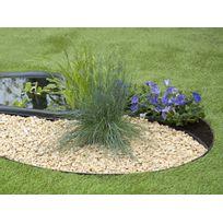 Nature - Bordure en polyuréthane pour jardin et bassin Noir - 5 m x H.12 cm