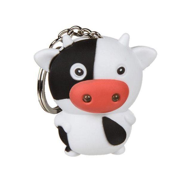 Nodshop Porte-clefs vache lumineux et sonore